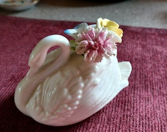 China and porcelain swan