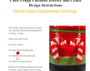 Candy Cane Handwoven Earrings Tutorial