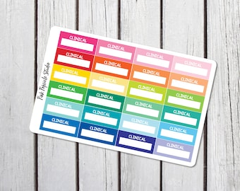 Clinical Quarter Box Nursing Student Planner Stickers Designed for Erin Condren Life Planner Vertical