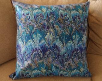 "Blue hues batik 18""x18""  pillow covers,BS22"