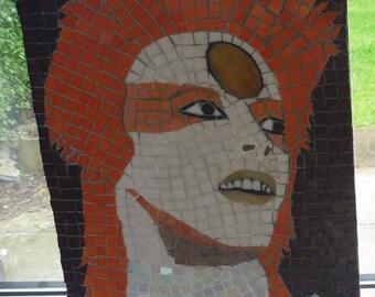 Portrait en mosaïque David Bowie Ziggy Stardust
