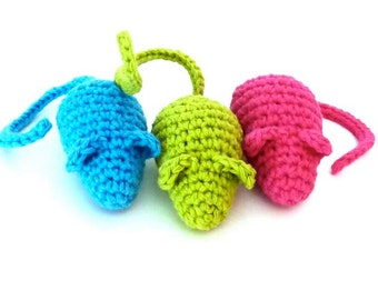 Kitty Catnip Mice Cat Toy - Choose Your Colors