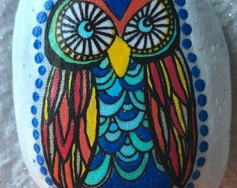 Colorful owl rock