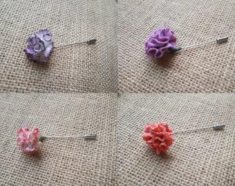 Carnation pin - pin bride - wedding pin - pack -Broche pins - Accessories - Accessories woman- Handmade - Pins - Wedding - Bride
