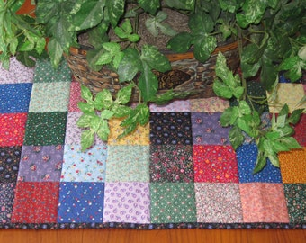Scrappy Squares Patchwork Quilted Table Mat Topper