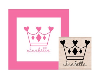 Crown Personalized Rubber Stamp