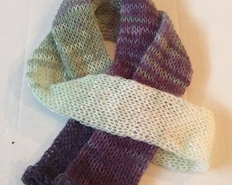 Purple and green scarf