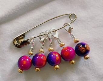 Removable Stitch Markers - Sunset