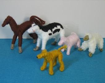 Set of Handmade Farm Animals