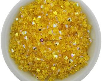 Citrine AB (4mm) Swarovski Crystal 5328 Xilion Bicones
