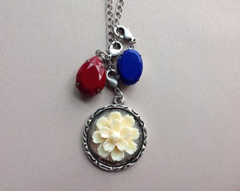 Red, White and Blue Charm Necklace, 22 1/2 inches, 572mm