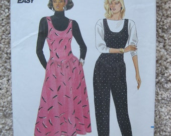 UNCUT Misses Jumper and Jumpsuit - Size 12 to 16 - Butterick Sewing Pattern 4117