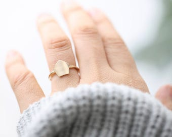 Geometric Pentagon Ring • Pentagon Ring • Minimalist Ring • Statement Ring • Gift For Her • Elegant Ring • Simple Ring • Modern Ring • Ring