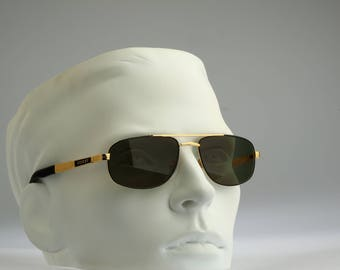 Desert 006 002, Vintage aviator sunglasses, 90s mens & women rare and unique / NOS