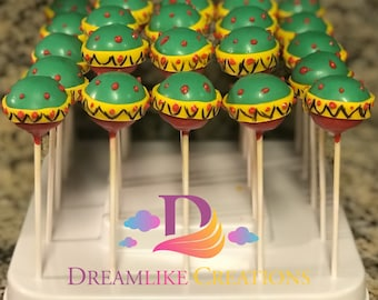 Cake Pops: 12 Marracas Cake Pops  | Perfect for Birthday Party Favors | Cinco de Mayo Favors