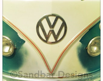 4 x 4 photo card-Pupcake VW bus