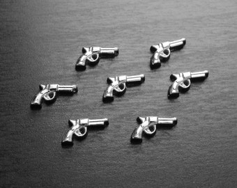 Gun Floating Charm for Floating Lockets-1 Piece-Gift Idea