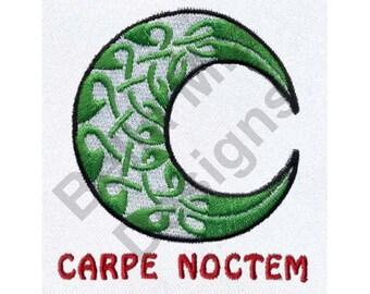 Moon - Machine Embroidery Design, Celtic Moon, Carpe Noctem