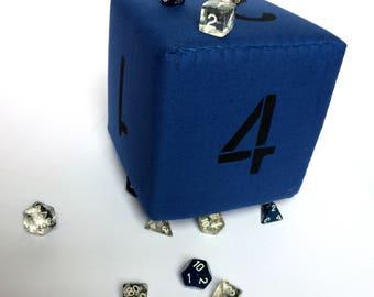 """GIANT d6 foam dice for D&D TTRPGs, 7""""/18cm"""