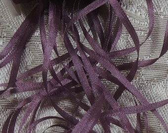 Gorgeous 7mm plum silk ribbon 5 yards Color 562
