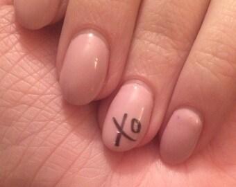 XO or Hugs & Kisses nail decals