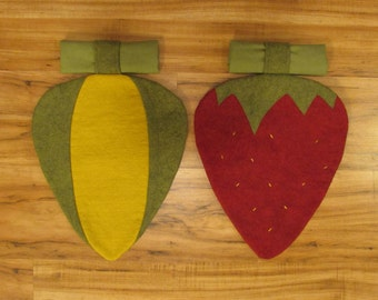 Corn and Strawberry placemats