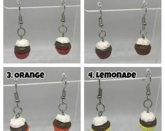 Cupcake Polymer Clay Earrings