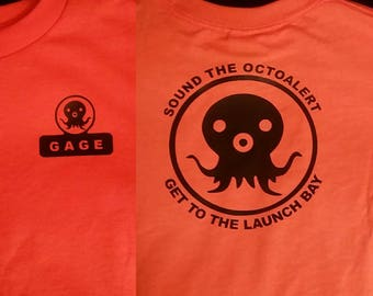 Octonauts Child Shirt Free  Personalization Kid Shirt Front Back Sound the OctoAlert Get to the Launch Bay