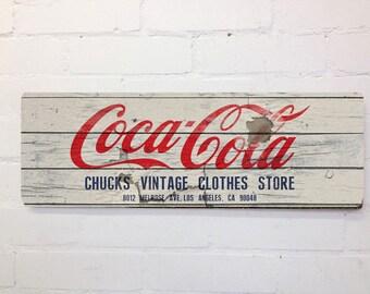 Vintage Style Coca Cola Wall Door Sign