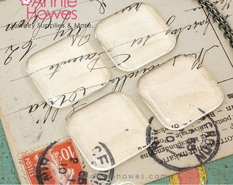 1 in Square Clear Puffy glass tiles. 25mm Clear Puffy Glass Square Shapes Tiles for Pendants and Magnets. 25 Pack.