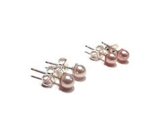 Baby Earrings, Girls Earrings, Pearl Earrings, Stud Earrings, Baby Jewelry, Girls Jewelry, Kids Jewelry,  (B8)