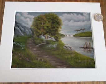 Oil Painting Landscape - Elder Scrolls 3 Morrowind: Fields of Kummu Shrine