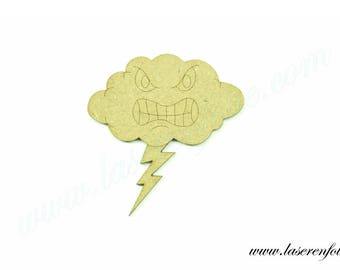 Storm cloud with a zipper, made in medium, size 5cm