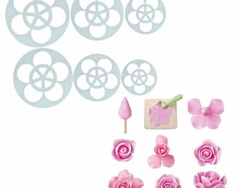 Rose Flower Cookie Cutter, Daisy Cookie Cutter, Easy Peony Cookie Cutter, Blossom Carnation Cookie Cutter, Flower Blossom Cookie Cutter