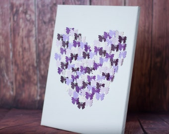 Butterfly Heart Canvas