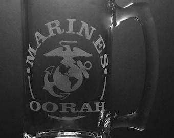 United States Marines 25 Ounce Beer Mug