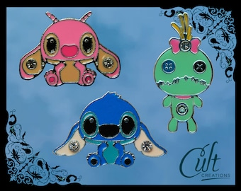 Disney Lilo & Stitch metal and enamel pins / pin badges Choose your pin or buy as a set of three. Free UK post.