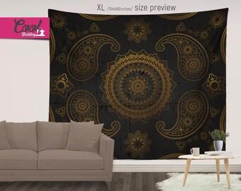 Royal Tapestry, Mandala Wall Art, Luxury Wall Hanging, Shabby Chic Wall Decor 110
