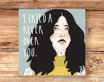 Print 21x21 | The cried in river