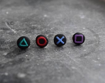 Playstation Buttons Earrings
