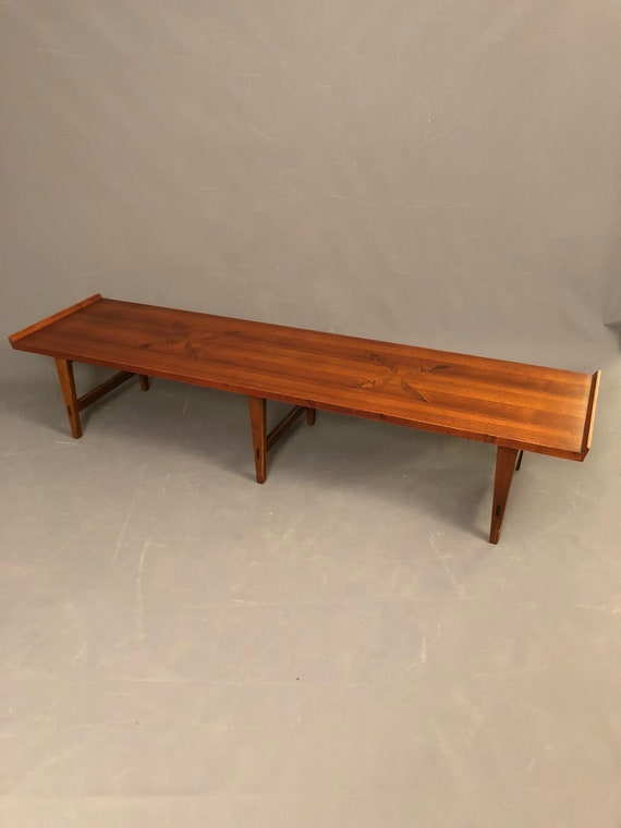 Mid-Century long Walnut Coffee Table by Lane Co.