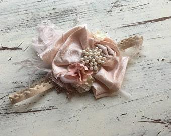 jewel bow headband- Baby Girl Headband- baby Headband- Flower Girl Headband- matilda jane- Persnickety Headband- Photo Prop