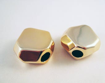 Spacer color PAC15 - 2 Spacer beads gold faceted
