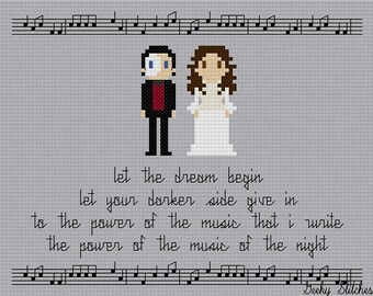 Phantom of the Opera Cross Stitch Pattern