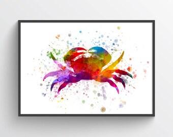 Crab Poster, Crab Decor, Crab Print, Nautical Art Print Home Decor, Gift Idea