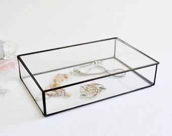 Glas Glas Display Box Glas Schmuck Box Hochzeit Display Box Klarglas Dose Bestelloptionen