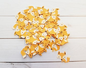 Fox Die Cuts, Punchies, Punches, Embellishments, Confetti, Party Decor, Favors, Scrapbooking