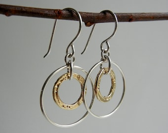 Gold and Silver Arianrhod I Earrings
