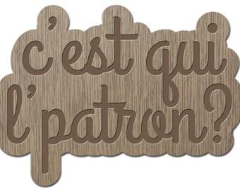 IT IS THAT THE PATTERN? -LITTLE words - laser cut wood - brooch