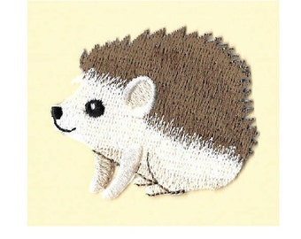 Hedgehog Baby - Hedgie - Erinaceinae - Embroidered Iron On Applique Patch